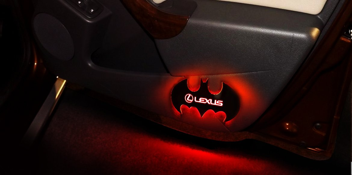 Trendy Bat- shaped customized logo door lights now more fashionable and unique