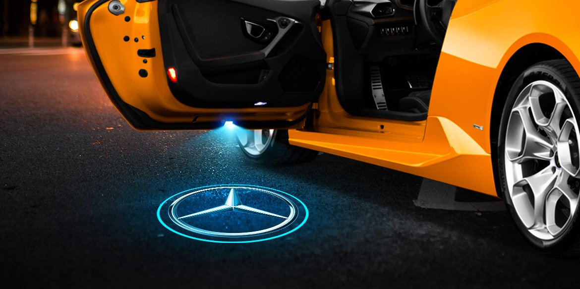 Mercedes Door Lights - Style, Safety and Easy to Install
