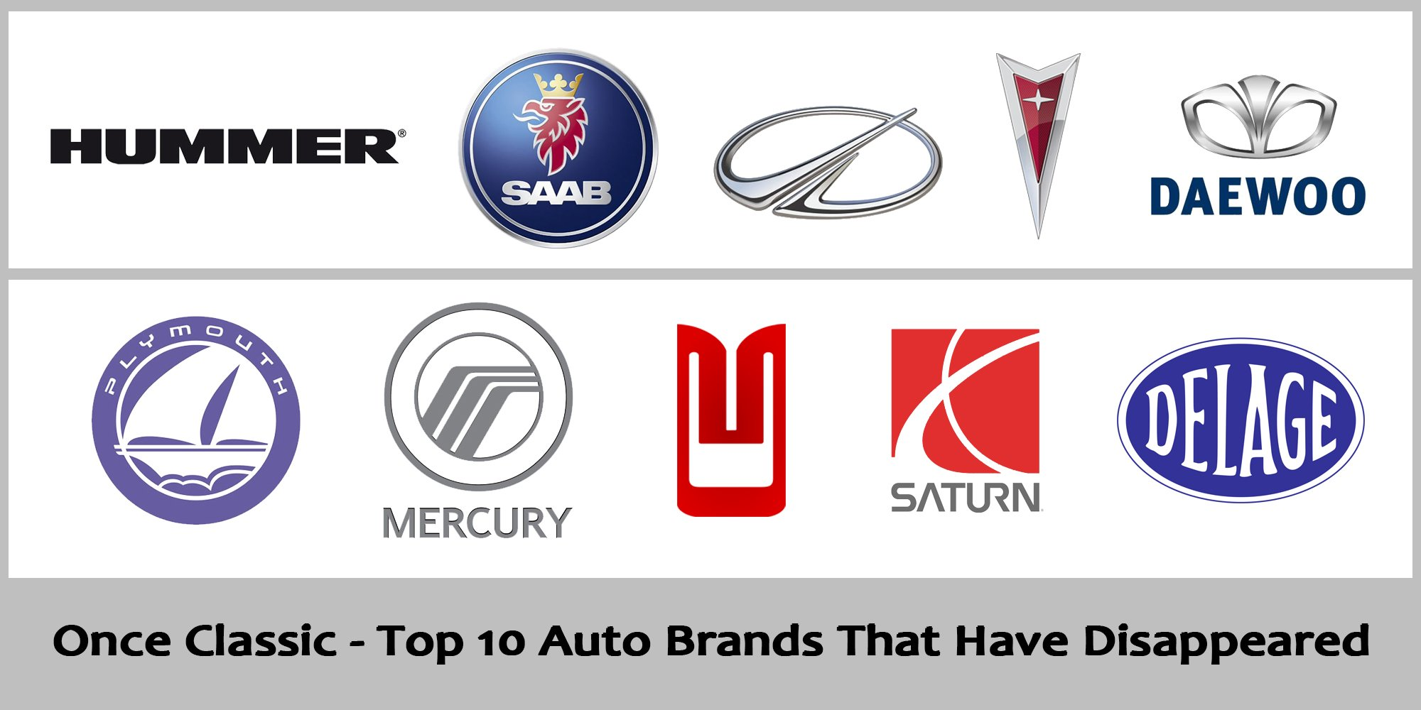 Once Classic - Top 10 Auto Brands That Have Disappeared (Part One)