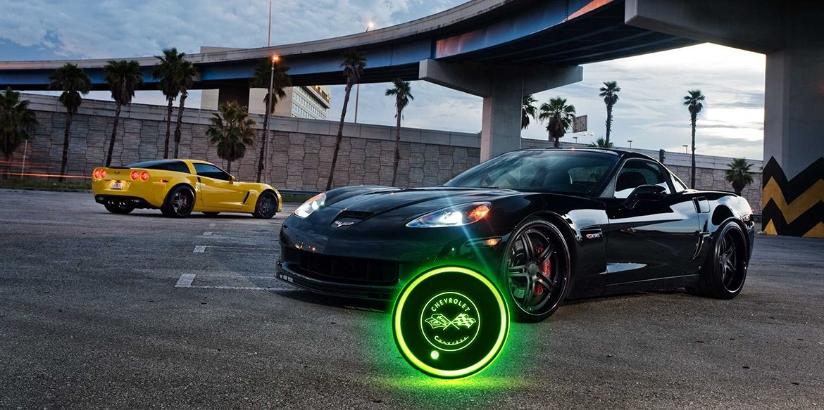 Glowing cup coasters that fit your vehicle's cup holders