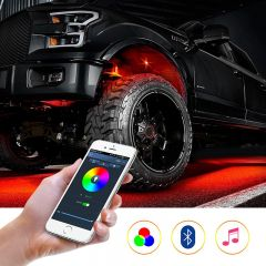 4 & 8 Pods RGB LED Rock Lights Cell Phone App Bluetooth Control Flush Multicolor Neon Led Light