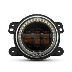 Yellow LED Fog Lights With White Halo Ring For JEEP Wrangler (OL-JF02AOY)