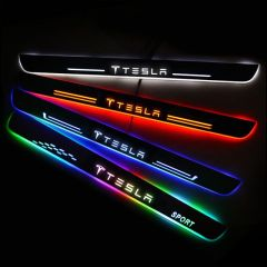 Tesla Compatible Upgrade Led Door Sills Plate