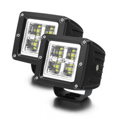 LED Light Pods Work Lights Auxiliary Lamps Spot Beam With Halo Ring (TH-W0740C-A)