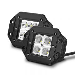 Flush Mount LED Work Light Pods Driving Lamps Spot Flood Beam (TH-W0C-E)