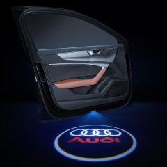 Audi Compatible LED Car LOGO Door Lights 2 PCS