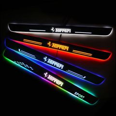 Ferrari Compatible Customized Luminous Door Sills Guards