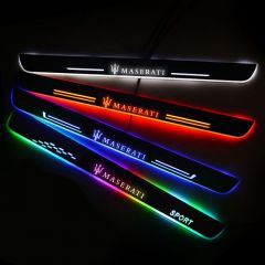 Maserati Compatible LED Door Sill Scuff Plate