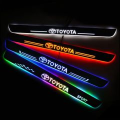 Toyota Compatible Illuminated Door Sills For Car Light Modification