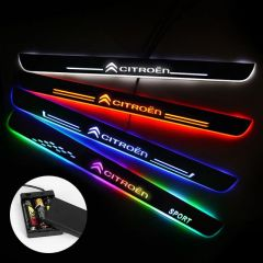 Citroen Compatible Batteries Powered Lighted Door Sills Plate