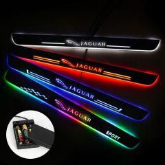 Jaguar Compatible Batteries Powered LED Door Sill Guard