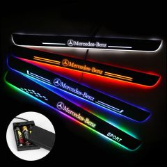 Mercedes-Benz Compatible Batteries Powered LED Door Sills Trim Plates
