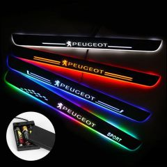Peugeot Compatible Batteries Powered Door Sills Entry Guards Light
