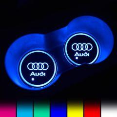 Audi Compatible LED Car Cup Holder Coaster