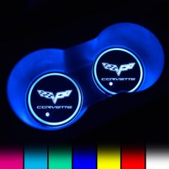 Corvette Compatible LED Car Cup Holder Coaster