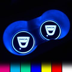 Dacia Compatible LED Car Coaster With LOGO