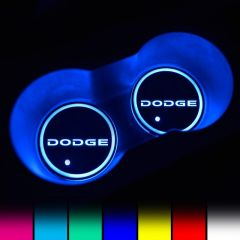 Dodge Compatible LED Car Cup Holder Coaster