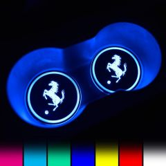 Ferrari Compatible LED Car LOGO Cup Holder Lights