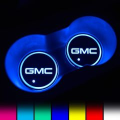 GMC Compatible LED Car Coaster With LOGO