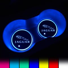 Jaguar Compatible LED Car Cup Holder Lights