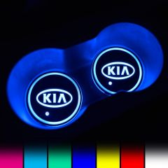 KIA Compatible LED Car Coaster With LOGO