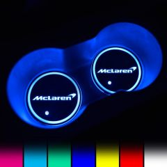 Mclaren Compatible LED Car LOGO Cup Holder Lights