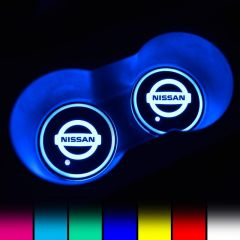 Nissan Compatible LED Car LOGO Cup Holder Lights
