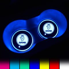 SAAB Compatible LED Car Cup Holder Coaster