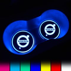 VOLVO Compatible LED Car LOGO Cup Holder Lights