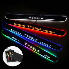 Tesla Compatible Batteries Powered Illuminated Door Sill Exterior