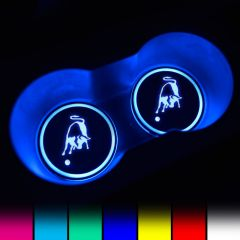 Lamborghini Compatible LED Car Coaster With LOGO
