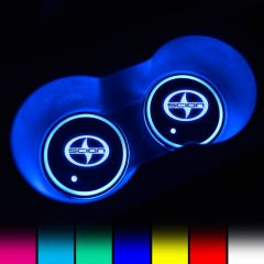 Scion Compatible LED Car LOGO Cup Holder Lights