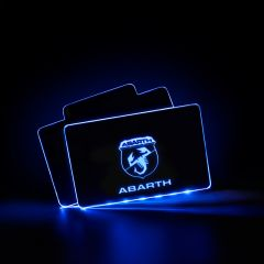 Abarth Compatible AUTO LED Floor Mats Illuminated Pedal