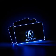 Acura Compatible LED Floor Mats Illuminated Plates