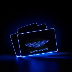 Aston Martin Compatible RF Remote Control Car LOGO LED Floor Mat