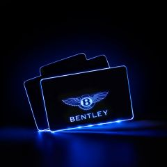 Bentley Compatible Illuminated LOGO LED Automobile Floor Mat
