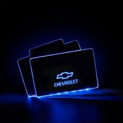 Chevrolet Compatible LED Floor Mats Illuminated Plates