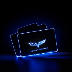 Corvette Compatible LED Automobile Floor Mat Glowing Plate