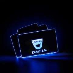 Dacia Compatible Illuminated LOGO LED Automobile Floor Mat