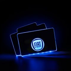 Fiat Compatible RF Remote Control Car LOGO LED Floor Mat