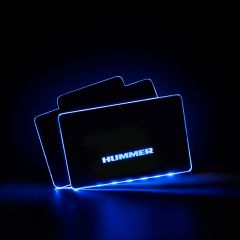 HUMMER Compatible AUTO LED Floor Mats Illuminated Pedal