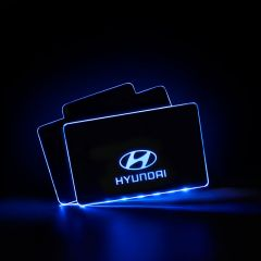 Hyundai Compatible LED Floor Mats Illuminated Plates
