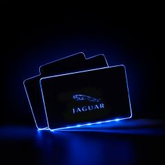 Jaguar Compatible RF Remote Control Car LOGO LED Floor Mat
