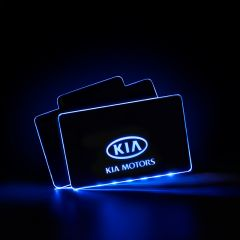 Kia Compatible Illuminated LOGO LED Automobile Floor Mat
