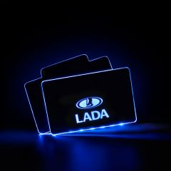 Lada Compatible Illuminated Automobile Floor Mat Plate