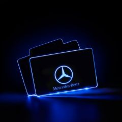 Mercedes - Benz Compatible AUTO LED Floor Mats Illuminated Pedal