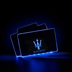 Maserati Compatible Illuminated LOGO LED Automobile Floor Mat