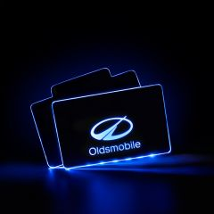 Oldsmobile Compatible Illuminated Automobile Floor Mat Plate