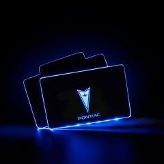 Pontiac Compatible LED Floor Mats Illuminated Plates