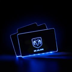 RAM Compatible LED Automobile Floor Mat Glowing Plate